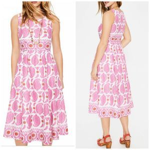 Boden    Pink Party Duo Paisley Lizzie Dress